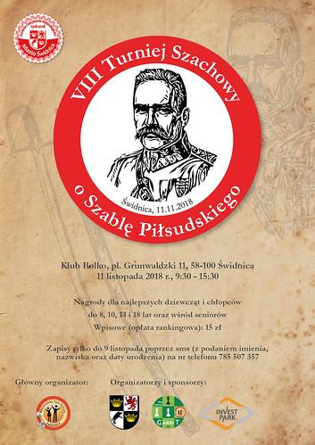 Plakat VIII Turnieju Szachowego o Szablę Piłsudskiego