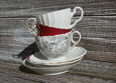 306/365 Demitasse (Helen Orozco) Tags: 306365 demitasse 2018365 stack collection cupsandsaucers vintage halfcups