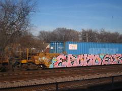 ERUPTO (Billy Danze.) Tags: freight graffiti erupto d30 a2m eerie vrs etc