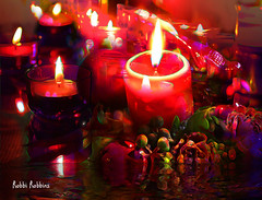 Warm Light (brillianthues) Tags: candles light glow reflection warm red colorful collage photography photmanuplation photoshop