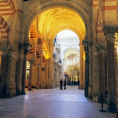 Inside the Mezquita ( Cordoba ). (Flyingpast) Tags: mezquita cordoba mosque church moorish baroque andalucia spain building architecture arch beautiful