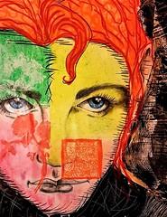 Gina (franck.sastre) Tags: orange colors art painting artist picture streetart eyes lips