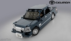 Toyota Celsior UCF30 / Lexus LS430 (aaref1ev) Tags: toyota lego ldd blender render mecabricks digital desigher own creation moc celsior f30 ucf30 lexus ls ls430 jdm car japanese domestic market auto minifigure scale 6wide chrome