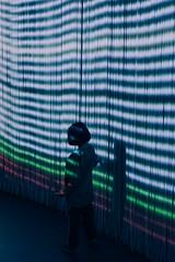 ({Laura McGregor}) Tags: curtaincall lights ronarad artinstallation roundhouse illuminated littlegirl london lightshow fuji xpro2 scifi futuristic silhouette fujifilm city
