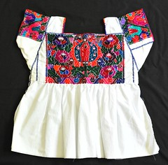 Mexico Embroidered Blouse Nahua Puebla (Teyacapan) Tags: blouses mexican puebla nahua ropa textiles clothing bordados embroidered