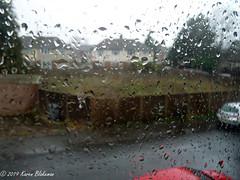 January 16th, 2019 It's raining! (karenblakeman) Tags: rain window caversham uk weather january 2019 2019pad