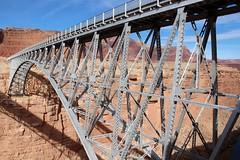 Old Navajo Bridge (Coconino County, Arizona) (cmh2315fl) Tags: historicbridge archbridge steeldeckarch deckarchbridge spandrelbraceddeckarch kansascitystructuralsteelcompany ushwy89a us89a hwy89a navajobridge coloradoriver glencanyonnationalrecreationarea coconinocounty arizona nrhp nationalregisterofhistoricplaces haer historicamericanengineeringrecord asce ascelandmark civilengineeringlandmark