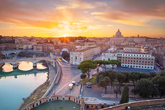 Rome. (Rudi1976) Tags: rome vaticancity italy cityscape architecture basilica street evening sky buildingexterior landmark famous traveldestination travel tourism outdoor city town downtown europe tiberriver vatican historical urbanscene skyline cathedral scenic beautiful aerial capitalcity twilight sunset dusk landscape church religion ancient christianity saintpeterbasilica dome roman illuminated old river riverside bridge archbridge