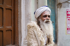 Sweater Baba (phil.w) Tags: pentax k1 limited lens fa43 43mm india varanasi baba beard holy man turban sweater spiritual serene portrait street candid smcpfa43mmf19