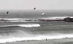 Surfing In The Wind (david.gill12) Tags: kitesurfers waves seaspray