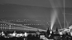 My Town - Murten City 2019 - Manual Focusing - Lens MINOLTA (arteys) Tags: murten morat lichtfestival lightfestival lichtkunst lichtkünstler sony a6000 beleuchtung luci lacdemorat murtensee kunstlicht lichtspiel vully see fribourg friburg schweiz