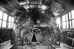 Cab (Locomotive) (JCTopping) Tags: wideangle iron 19mm coal old locomotive canon steam 6d steamtown firebox cab train pennsylvania rail windows steel blackandwhite boiler scranton unitedstates us