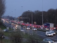 Werkendam: Traffic Jam on A27 (harry_nl) Tags: netherlands nederland 2018 werkendam file trafficjam a27 snelweg highway