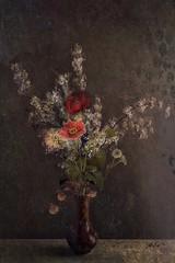 Still Life (jimlaskowicz) Tags: jimlaskowicz impressionistic artistic vintage aged flowers vase floral art painterly textures life still