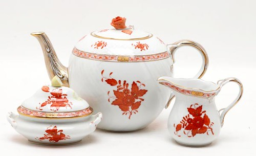 3-piece Herend teapot, sugar and creamer ($156.80)