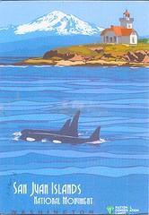 12 FlagGazer (Rocky's Postcards) Tags: sanjuan islands washington illustration whales lighthouse nationalmonument postcard flaggazer