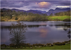 Loughrigg Tarn (Nicks-2017) Tags: ambleside england unitedkingdom gb outside outdoors nature sunrise thelakes nationalpark nationaltrust nt canon eos thelakedistrict cumbria water lake sky light sun clouds landscape trees adventure sundaylights