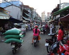Light goods vehicles entering the market (Mount Fuji Man) Tags: saigon november 2011 market vietnam 6ws