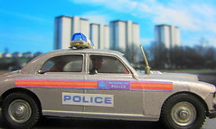 Corgi Toys Riley Pathfinder Police No. 209 Built From 1958 - 1962 Restored And Converted Into A Modern London Metropolitan Police Car : Diorama British Tower Blocks - 5 Of 23 (Kelvin64) Tags: corgi toys riley pathfinder police no 209 built from 1958 1962 restored and converted into a modern london metropolitan car diorama british tower blocks