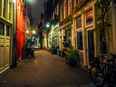 Streets the size of Alleys (Lake Effect) Tags: 2018 amsterdam europe november night sidestreet explore explored