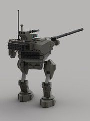 T-90MS Battle Mech (Showcase)3 (demitriusgaouette9991) Tags: lego military ldd army armored powerful railgun russian mecha lasergun whitebackground walker turret flames lasers future