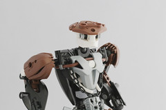 Kaiyzo (Ron Folkers) Tags: lego bionicle moc custom brown white black weapons swords