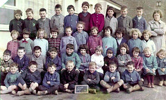 Class Photo (theirhistory) Tags: boys girls children kids school class group form jumper jacket trousers shoes wellies teacher rubberboots