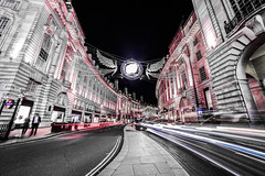 Regent street (Paul Wrights Reserved) Tags: light lights lighttrails christmas leadinglines leading bus londonbus londonbuses blackcab perspective building buildings architecture people regentstreet picadillycircus centrallondon car cars vehichles transport traffic sundaysliders