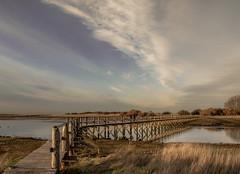 And the colour version of the bridge..xx (shona.2) Tags: beach goldenhour sunset water bridge river scotland eastlothian naturereserve aberladybay