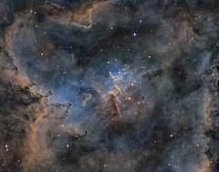 Heart Nebula (Spacesimon1980) Tags: nightsky hubblepalette longexposurephotography longexposure narrowband deepsky astrophotography astrophoto ngc nebulosity nebula heartnebula