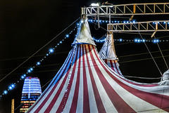 circus lights (pbo31) Tags: sanfrancisco california nikon d810 color night dark city december 2018 boury pbo31 treasureisland salesforce circus hdr bella red tent show