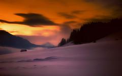 Piedi freddi, cuore caldo ... (Gio_guarda_le_stelle) Tags: sunset afterglow dolomiti dolomites dolomiten snow landscape ice sky burning i 4 light fire