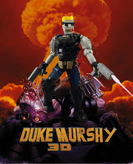 Duke Marshy (Green Axles) Tags: lego bionicle duke nukem atomic meltdown 3d moc legomoc bioniclemoc videogame explosion bubblegum cigar alien
