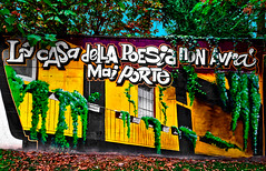 The poetry house will never have doors (Marco Trovò) Tags: marcotrovò hdr canong1x milano italia italy città city strada street edificio building naviglio waterway graffiti murale mural