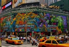 Toys 'R Us, Times Square, 2003 (oybay©) Tags: toysrus toys r us toystore newyork nyny timessquare midtown manhattan city store outofbusiness color colors colorfi transformers armada transformersarmada billboard advertising