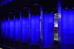 Munich - Pillar Blues (cnmark) Tags: germany munich deutschland münchen bayern bavaria ubahn subway metro tube station münchnerfreiheit architecture architektur blue pillars column blaue säulen underground ©allrightsreserved