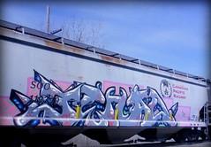 (timetomakethepasta) Tags: jehad freight train graffiti art soo cp canadian pacific railway grainer hopper