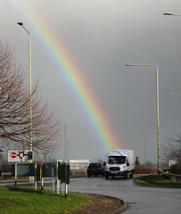 Delivering rainbows since 1965 (stevenbrandist) Tags: fordtransit rainbow mountsorrel