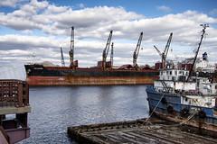 Vessels--Chelsea Creek (PAJ880) Tags: bulker genco auvergne tug jm powell chelsea creek east boston ma harbor waterfront industrial urban salvage moored