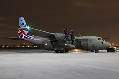 RAF C-130J Hercules C5 (nickchalloner) Tags: raf northolt nht egwu royal air force nightshoot night shoot xxvi zh883 lockheed martin c130j c130 hercules c5 herk 50 years service