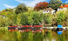 LLANGOLLEN MOORINGS . (tommypatto : ~ IMAGINE.) Tags: northwales llangollen canals inlandwaterways narrowboats