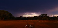 Lightning in outback Australia (SquamataOut) Tags: western australia storm lightning thunder outback