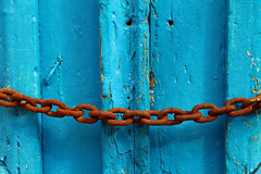 A union that can withstand time (Argyro Poursanidou) Tags: abstract minimal lines curves chain rust wood blue orange color old decay