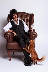 Man with a cat 3 (*Ryuugan*) Tags: iplehouseleonard iplehouse leonard bjd doll abjd
