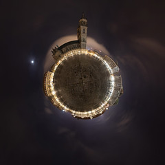 Domplatz 2018 (diwan) Tags: planet germany magdeburg domplatz magdeburgerdom night light equirectangular roundabout ptgui canon 2018 geotagged geo:lon=11634777 geo:lat=52125697