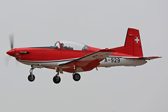 A-929 Pilatius PC-7 Swiss Air Force RIAT RAF Fairford 13th July 2018 (michael_hibbins) Tags: a929 pilatius pc7 swiss air force riat raf fairford 13th july 2018 switzerland europe european military defence strategic trainer aeroplane aircraft aviation aerospace airplane aero airshow airfields turboprop turbos turbo prop props propeller propellers single display team patrouille de suisse