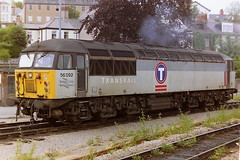 EWS TRANSRAIL LIVERIED 56092 (bobbyblack51) Tags: british railways ews transrail liveried class 56 brush type 5 coco diesel locomotive 56092 newport 1997