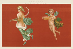 Pompeii: Mural Paintings from the Ruins (1891) by William Mackenzie, a beautiful virgin and a little boy cherub. Digitally enhanced from our own original plate. (Free Public Domain Illustrations by rawpixel) Tags: 1891 angel antique art baby beautiful beauty book boy catholic cherub christianity chromolithograph chubby classic classical colorful cupid cute decor decoration design drawing encyclopedia fineart fresco heritage home illustration lithograph littleboy lovely mackenzie magical mural muralpaintingsfromtheruins mythical old painting plate pompeii roman rome ruins vintage virgin william williammackenzie woman