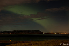 northern lights over selfoss (Björn Elvar) Tags: nothern lights northernlights selfoss iceland mountain bubbi