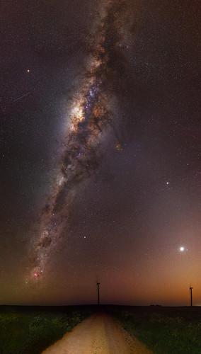 Milky Way at Emu Downs Wind Farm - Cervantes, Western Australia